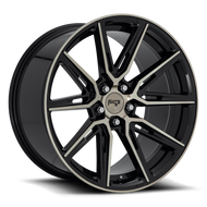 Niche Gemello M219 Wheel 20x10 5x4.5 (5x114.3) Matt Machine Dark Tint 40MM - FREE LUGS
