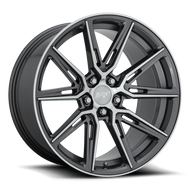 Niche Gemello M220 Wheel 20x9 5x4.5 (5x114.3) Gloss Anthracite Machined 35MM - FREE LUGS