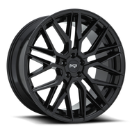 Niche® Gamma M224 Wheels Rims 22x9 5x127 (5x5) Gloss Black 35 | M224229075+35
