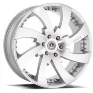 Luxxx Alloys® LUX 12 Wheels Rims 24x10 6x5.5 (6x139.7) Silver Machined 30 | LUX12241061397SILVMC