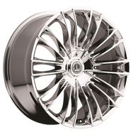 Luxxx Alloys® LUX 3 Wheels Rims 20x8.5 5x4.5 (5x114.3) 5x120 Chrome 35 | LUX320855114312035CH