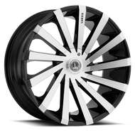 Luxxx Alloys® LUX 13 Wheels Rims 20x8.5 5x4.5 (5x114.3) 5x120 Black Machined 35 | LUX1320855114120BKMC