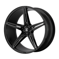 Asanti Alpha 5 ABL22 Wheel 22x9 Gloss Black Milled - Custom Bolt Pattern & Offset 32-45mm | ABL22-22900032BK