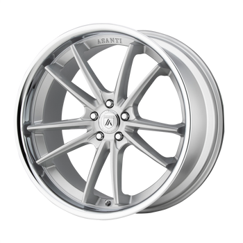 Asanti Delta ABL23 Wheel 22x9 Silver w/ Chrome Lip - Custom Bolt Pattern & Offset 32-45mm | ABL23-22900032SL