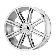 HELO HE913 Wheel 24x10 Chrome Custom Drilled BP 15mm Offset - IN CART DISCOUNT!