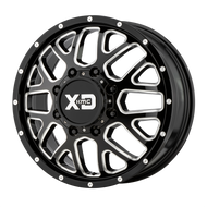 XD Series® Grenade Dually XD843 - Front Wheels Rims 17x6.5 8x210 Black Milled 111 | XD843765893111