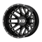 XD Series® Grenade Dually XD843 - Rear Wheels Rims 17x6.5 8x210 Black Milled -155  | XD843765893155N