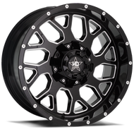 Luxxx HD Off-Road® LUX HD 8 Wheels Rims 18x9 8x170 Gloss Black Milled -12  | LHD81898170-12GBKMIL
