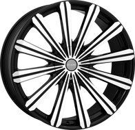 Elure® 030 Wheels Rims 28x10 6x135 6x5.5 (6x139.7) Black Machined 25 | ELR030-28130B-B18