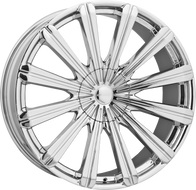 Elure 030 Wheel 26x10 5x127 (5x5) 5x5.5 (5x139.7) Chrome 13MM - MINIMUM PURCHASE OF 4 WHEELS