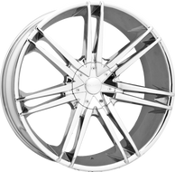 Elure® 032 Wheels Rims 24x9.5 6x127 (6x5) 6x5.5 (6x139.7) Chrome 25 | ELR032-24937C