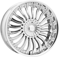 Elure 033 Wheel 22x8 5x108 5x4.5 (5x114.3) Chrome 38MM