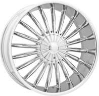Elure® 034 Wheels Rims 22x9 6x127 (6x5) 6x5.5 (6x139.7) Chrome 30 | ELR034-22937C-VW11