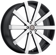 Elure 037 Wheel 20x8.5 5x4.5 (5x114.3) Black Machined 35MM