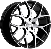 Ravetti M8 Wheel 20x8.5 5x112 Black Machined 35MM