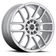 Raceline Mystique 141S Wheel Silver 17x7.5 5x100 & 5x4.5 (5x114.3) 40mm Offset  - FREE LUGS & CART DISCOUNT!!