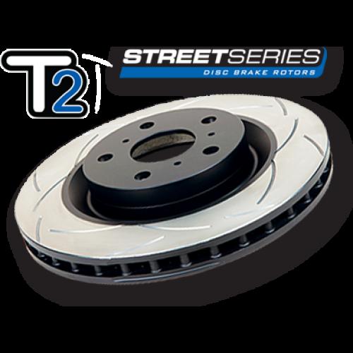 DBA Street Series T2 Slotted Brake Rotor REAR VW MK5 MK6 GTI