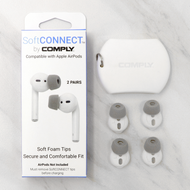Includes 2 pairs of SoftCONNECT foam tip sleeves + silicone pouch for storage