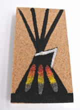 Tepee Magnet Sand painting Native American Navajo