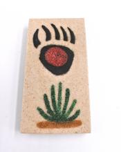 Bear Paw Magnet Sand painting Native American Navajo