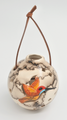 Hummingbird Christmas Ornament  Horse Hair Pottery