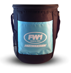 FW1 Cooler bag - black and blue.