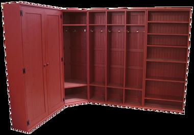 CUSTOM - Corner Locker Setup with Shelves u0026 Doors  sc 1 st  Sawdust City LLC & CUSTOM - Corner Locker Setup with Shelves u0026 Doors - Sawdust City LLC