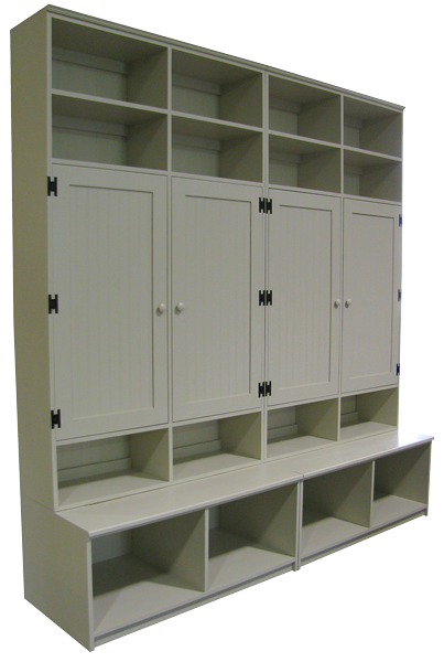 CUSTOM   Locker Cabinets On Benches