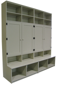 CUSTOM - Locker Cabinets on Benches