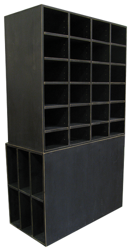 Gentil CUSTOM   Large Black Cubby Storage