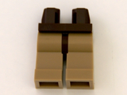 Minifig Legs -Dark Brown hips & Dark Tan legs