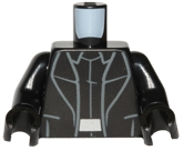 Minifig Torso - Black coat with black hands