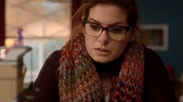 Debra Messing Wearing Face A Face Shade 2 Eyeglasses In
