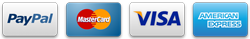 We accept Visa, Mastercard, American Express and PayPal payments