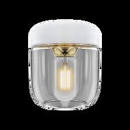 Umage Acorn - White with Polished Brass
