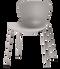 Fritz Hansen Nap Chair 4 Leg Steel Silver Grey Powder Coated Base
