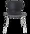 Fritz Hansen Nap Chair 4 Leg Steel Pepper Grey Chrome Base