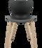 Fritz Hansen Nap Chair 4 Leg Oak Pepper Grey