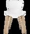 Fritz Hansen Nap Chair 4 Leg Oak Milk White