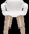 Fritz Hansen Nap Armchair 4 Leg Oak Milk White