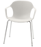 Fritz Hansen Nap Armchair 4 Leg Steel Milk White Chrome