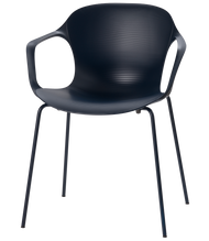 Fritz Hansen Nap Armchair 4 Leg Steel Midnight Blue Powder Coated