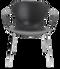 Fritz Hansen Nap Armchair 4 Leg Steel Pepper Grey Chrome