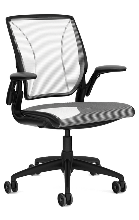 QUICK SHIP Humanscale Diffrient World Chair Black/White