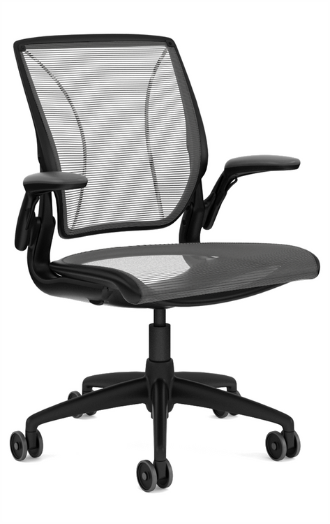 QUICK SHIP Humanscale Diffrient World Chair Black/Black