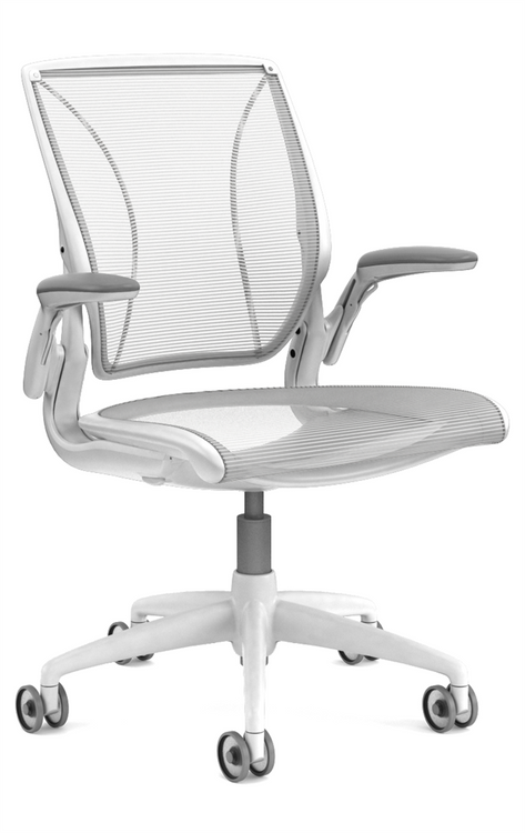 QUICK SHIP Humanscale Diffrient World Chair White/White