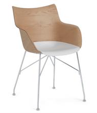 Kartell Q/Wood Chair - Slatted Ash