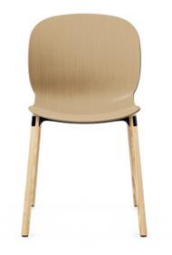 RBM Noor 6085 Dining Chair from Flokk - Wood Leg