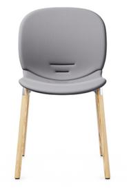 RBM Noor 6080F Dining Chair from Flokk - Wood Leg