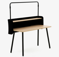 Allermuir Arc Rectangular Desk with Gantry, Screen & Shelf